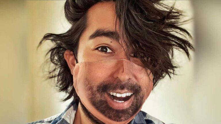 Cubrebocas con tu cara impresa, diseñado para desbloquear tu celular:  Face Id Mask