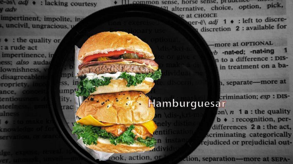 Hamburguesar en el diccionario